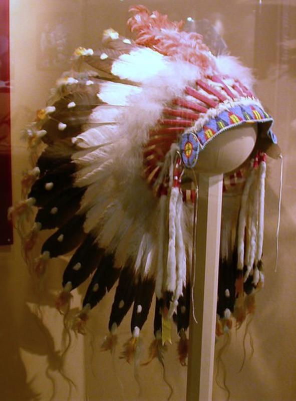 Indianer Kopfschmuck War bonnet Coiffe Indienne Federhaube Indian Headdress LBH