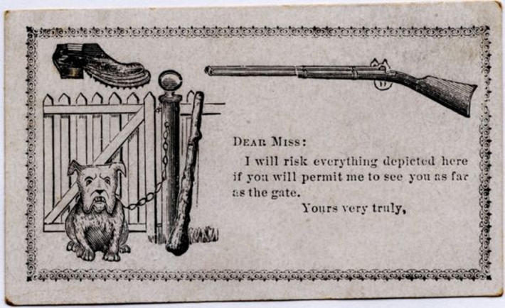 19 century pick up lines - business cards 14