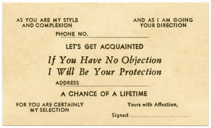 19 century pick up lines - business cards 3