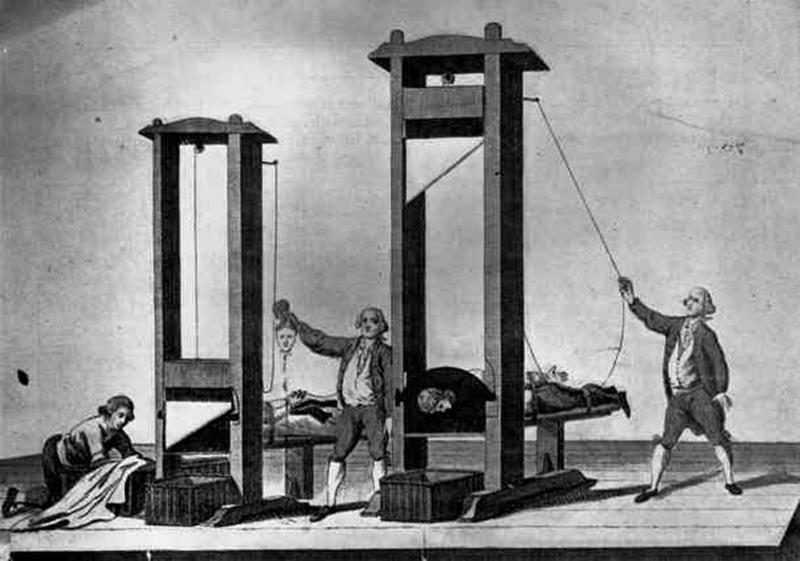 brutal torture devices - guillotine