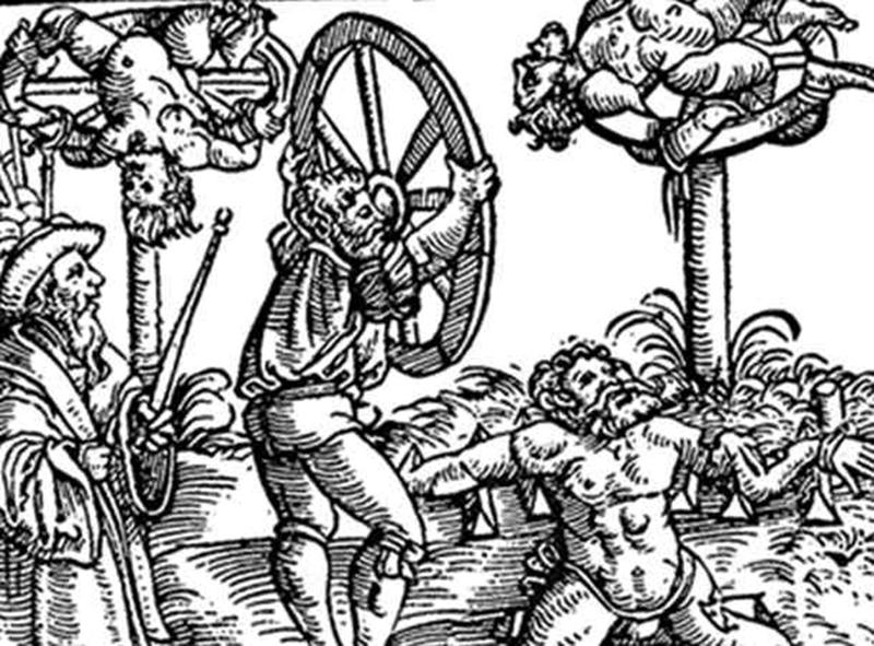brutal torture devices - breaking wheel