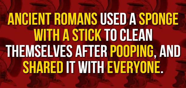 facts about ancient rome - pooping